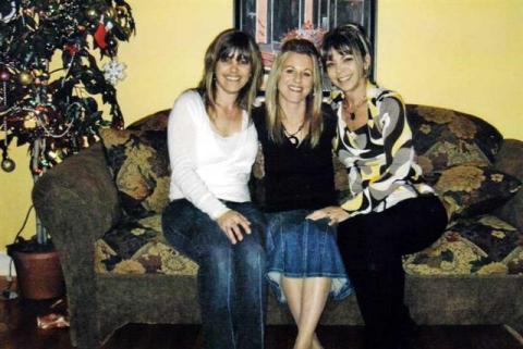 Les filles de Jacqueline. Jakel, Isabelle et Mylène.
